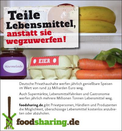 Anzeigengestaltung Foodsharing